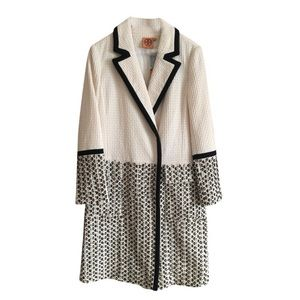 Tory Burch Ivory Josephine Beaded Coat Sz S